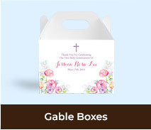 Gable Favour Boxes For First Communion