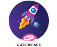 Outerspace Theme Personalised Birthday Favours