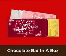 Personalised Valentines Day Chocolate Bar Boxes
