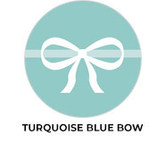 Turquoise Blue Bow Wedding Favours