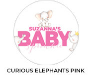 Curious Elephants Pink Theme Baby Shower Favours