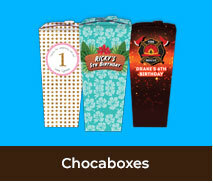 Personalised Chocabox Favour Boxes For Parties