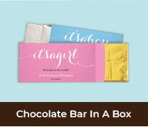 Custom Birth Announcement Chocolate Bar Boxes