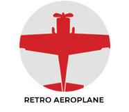 Retro Aeroplane Custom Birthday Favours