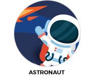 Astronaut Party Custom Birthday Favours