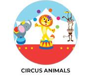 Circus Animals Custom Birthday Favours