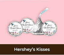 Personalised Hersheys Kisses For Bridal Showers