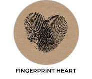 Fingerprint Heart Wedding Favours