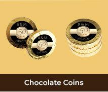 Wedding Anniversary Chocolate Coins