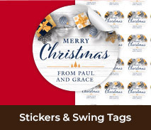 Personalised Christmas Stickers And Swing Tags
