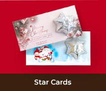 Custom Chocolate Christmas Star Cards