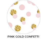 Pink Gold Confetti Custom Baby Shower Favours