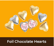 Foil Chocolate Hearts For Adult Birthdays