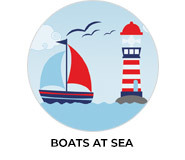 Boats At Sea Custom Birthday Favours