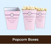 Popcorn Boxes For First Holy Communions