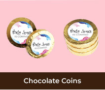 Personalised Gold Coins For Gender Reveals