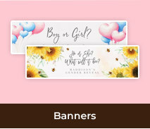 Custom Party Banners For Gender Reveals