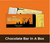 Personalised Halloween Chocolate Bar Boxes