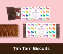 Custom Tim Tam Biscuits For Spring Racing