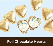 Foil Chocolate Hearts For First Holy Communion