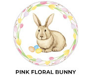 Pink Floral Bunny Easter Chocolate Theme