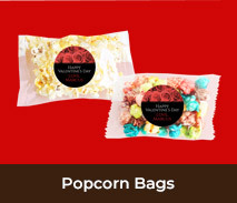 Personalised Popcorn Bags For Valentines Day