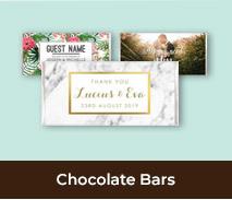 Chocolate Bar Wedding Favours