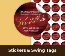 Wedding Anniversary Stickers And Swing Tags