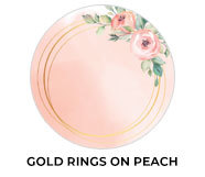 Gold Rings On Peach Wedding Theme Favours