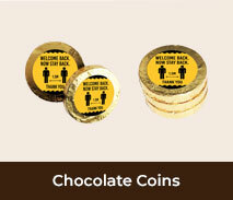 Welcome Back Personalised Gold Chocolate Coins