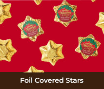 Christmas Foil Covered Chocolate Stars