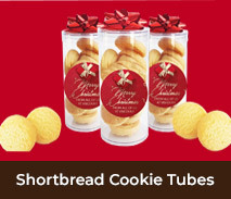 Personalised Shortbread Cookie Tubes For Christmas