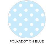 Polkadot Blue Custom Baby Shower Favours