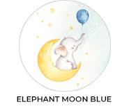 Elephant Moon Blue Theme Baby Shower Favours