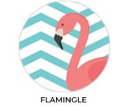 Flamingle Theme Custom Baby Shower Favours