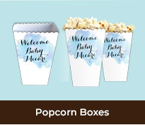 Popcorn Boxes For Baby Birth Announcements