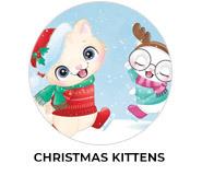 Christmas Kittens Theme Custom Christmas Favours