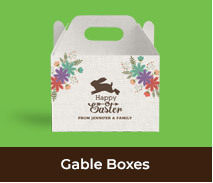 Personalised Easter Gable Box Favour Boxes