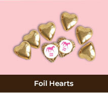 Custom Foil Heart Chocolates For Spring Racing