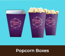 Personalised Thank You Popcorn Boxes