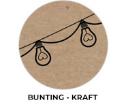 Bunting - Kraft Wedding Theme Favours