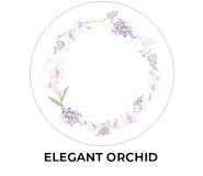 Elegant Orchid Theme Wedding Favours