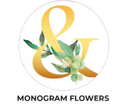Monogram Flowers Wedding Favours