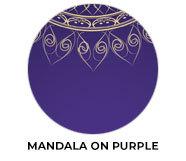 Mandala On Purple Wedding Theme Favours