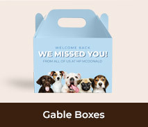 Personalised Welcome Back Gable Boxes