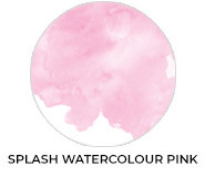 A Splash Of Watercolour Pink Baby Shower Favours