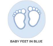 Baby Feet On Blue Custom Baby Shower Favours