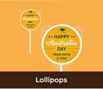 Australia Day Personalised Lollipops