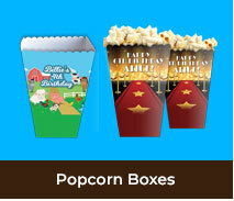 Personalised Popcorn Boxes For Kids Parties