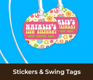 Personalised Birthday Stickers And Swing Tags